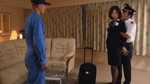 フライトが終わったCAさんがホテルで機長と整備員に陵辱されww