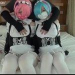 (アニコス)Re:ゼロのキャラクター、双子のメイド レムりんとラムちーのコスプレでハメ撮り生姦3P中出しSEXww【XVIDEOS】