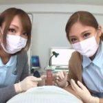 マスクフェチ必見!医療用マスクをした可愛いナース二人から包茎のチンカスを掃除してもらう主観映像ww(武井麻希 HIKARI)【JavyNow】