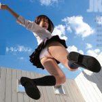 「パンチラは芸術だ!」お姉さんがJKミニスカのコスチュームでトランポリンでジャンプ!パンチラ、太もも見放題ww【FC2動画】