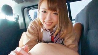 (並木あゆ)出会い系で知り合った茶髪、ミニスカ、関西弁の美少女JKは真っ赤な下着でオジサンを挑発してチンポを咥えちゃうww