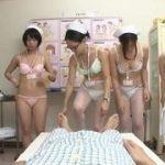 美人ナースたちが膣内圧迫法(セックス)でDNA鑑定してくれる病院wwまずは勃起させるために全員全裸にww